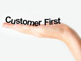 Customer First letters in a hand